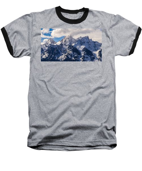 Baseball T-Shirt featuring the photograph Peaks Of The Tetons by Serge Skiba