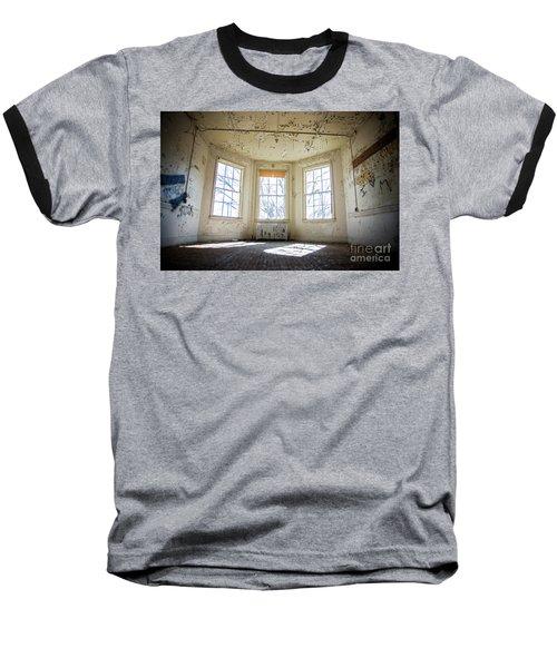 Pealing Walls Baseball T-Shirt by Randall Cogle