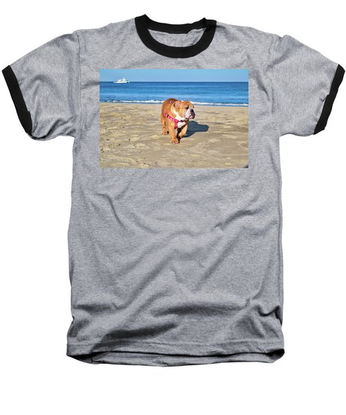 Peanut On The Beach Baseball T-Shirt