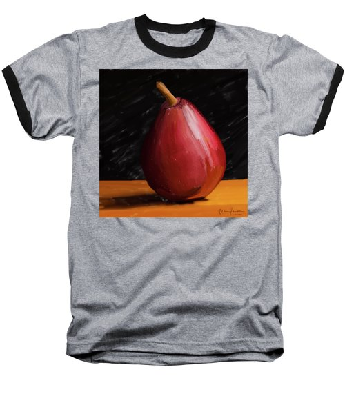 Pear 01 Baseball T-Shirt by Wally Hampton