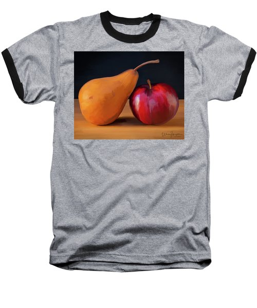 Pear And Plum 01 Baseball T-Shirt by Wally Hampton