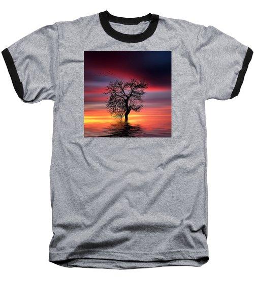 Pear On Lake Baseball T-Shirt by Bess Hamiti