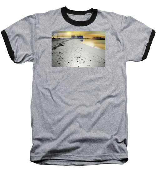 Pear Tree Footsteps Baseball T-Shirt by Diana Angstadt
