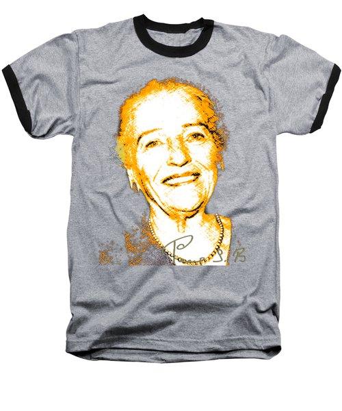 Baseball T-Shirt featuring the digital art Pearl Buck by Asok Mukhopadhyay