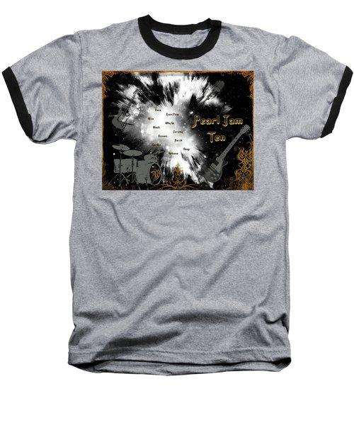 Pearl Jam Ten Baseball T-Shirt by Michael Damiani