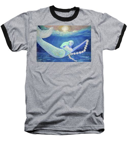 Pearl Of The Sea Baseball T-Shirt by Lyric Lucas