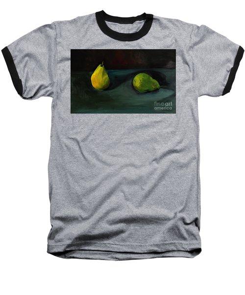 Pears Apart Baseball T-Shirt by Daun Soden-Greene