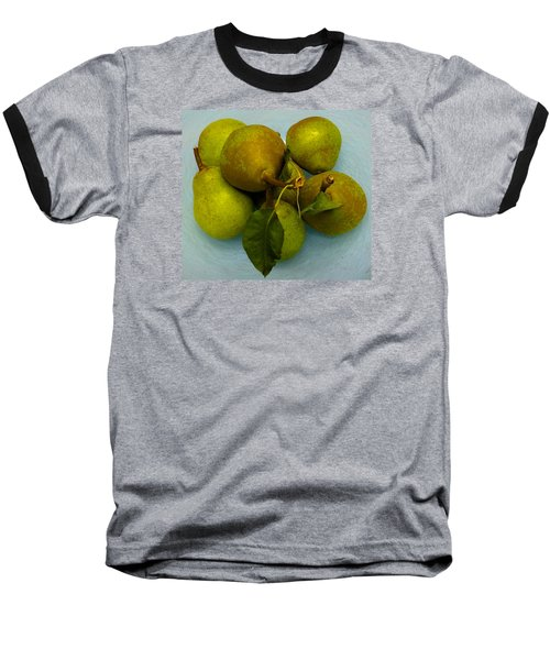 Baseball T-Shirt featuring the photograph Pears In Blue Bowl by Brenda Pressnall