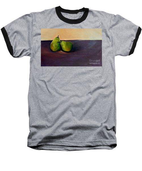 Pears One On One Baseball T-Shirt by Daun Soden-Greene