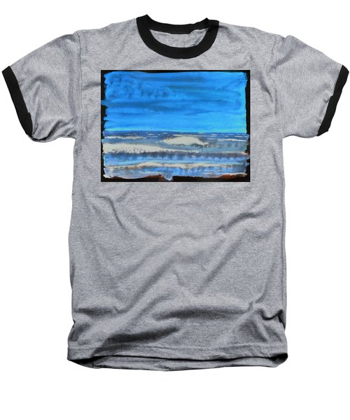 Baseball T-Shirt featuring the painting Peau De Mer by Marc Philippe Joly