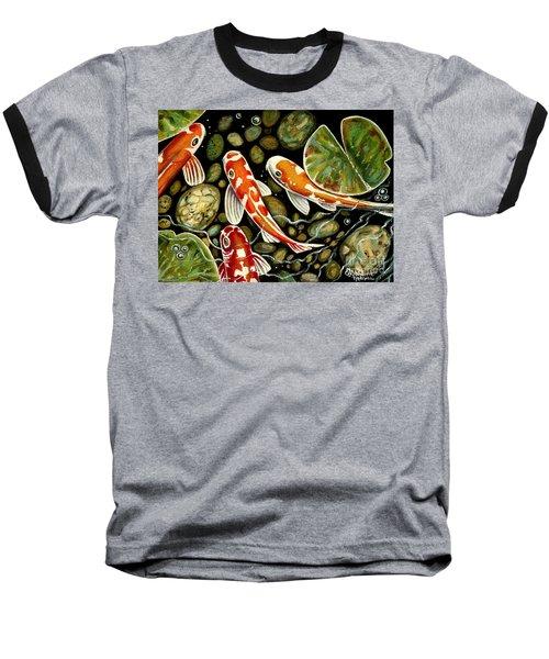 Pebbles And Koi Baseball T-Shirt