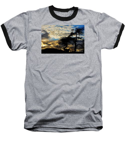 Pebbles Beach Pine Tree Baseball T-Shirt
