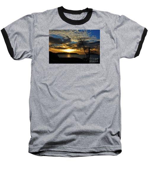 Pebbles  Beach Sechelt  Baseball T-Shirt by Elaine Hunter