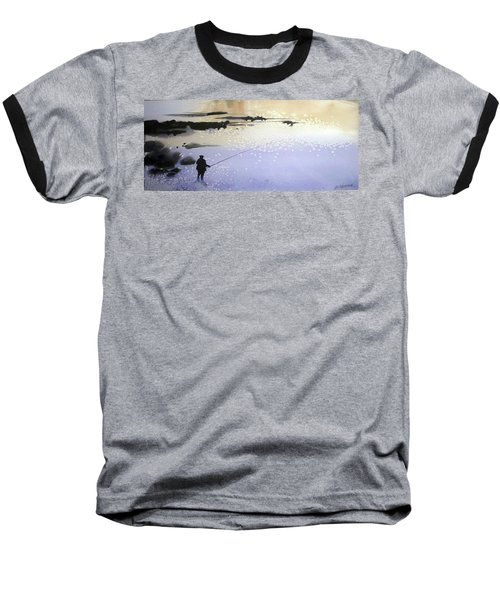 Baseball T-Shirt featuring the painting Peche by Ed Heaton
