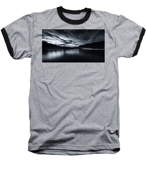 Peddernales Falls Long Exposure Black And White #1 Baseball T-Shirt
