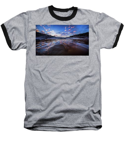 Peddernales Falls Sunset #1 Baseball T-Shirt