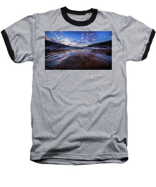 Peddernales Falls Sunset #1 Baseball T-Shirt