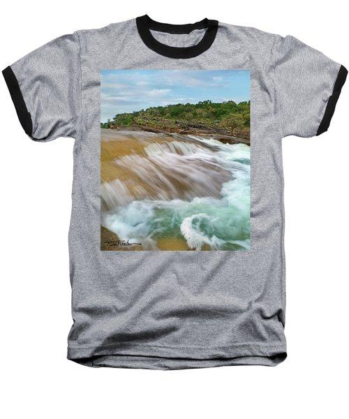 Pedernales Falls Baseball T-Shirt by Tim Fitzharris