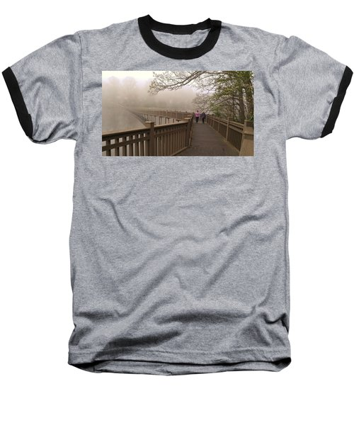 Pedestrian Bridge Early Morning Baseball T-Shirt