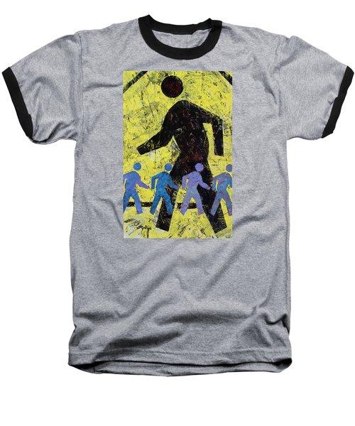 Pedestrian Crossing Baseball T-Shirt