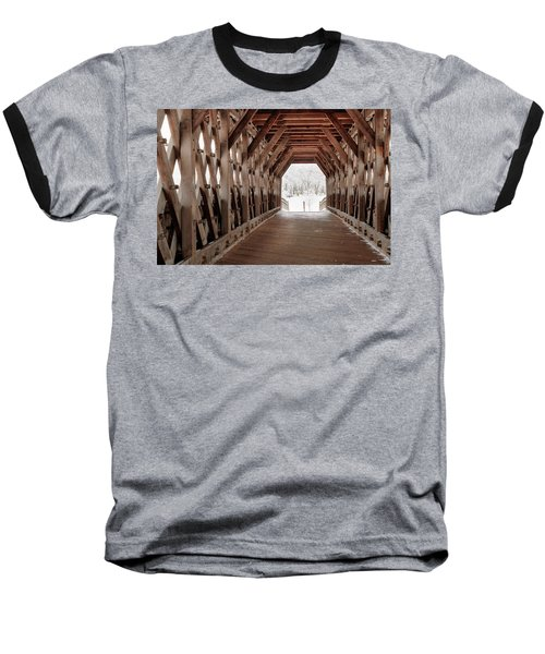Pedestrian Lattice Bridge Baseball T-Shirt