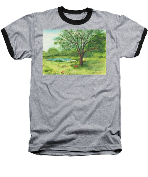 Baseball T-Shirt featuring the painting Pedro's Tree by Vicki  Housel