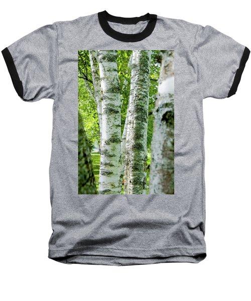 Baseball T-Shirt featuring the photograph Peek A Boo Birch by Greg Fortier