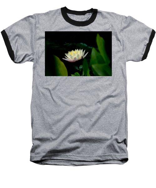 Peekaboo Lemon Water Lily Baseball T-Shirt