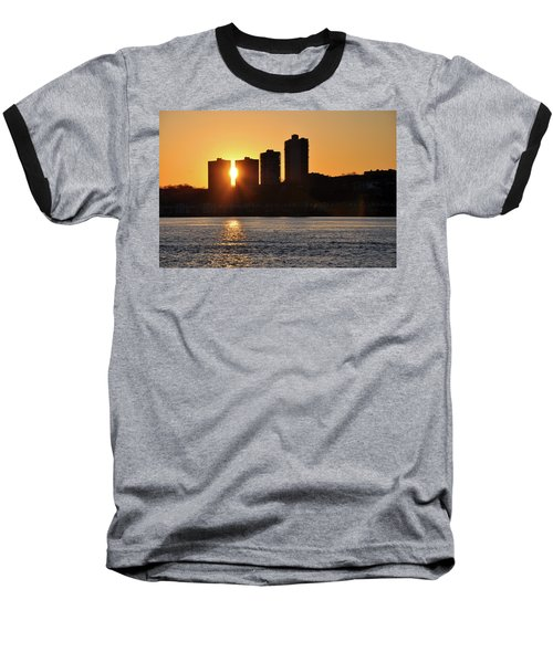 Peekaboo Sunset Baseball T-Shirt by Sarah McKoy