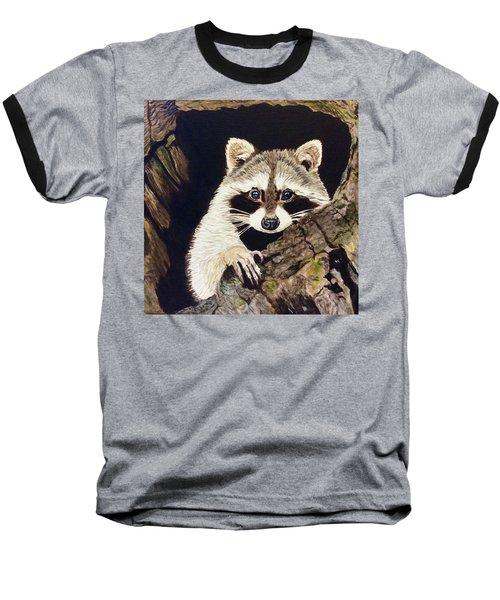 Peeking Out Baseball T-Shirt