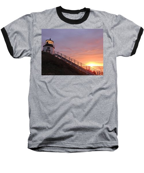 Peeking Sunrise Baseball T-Shirt