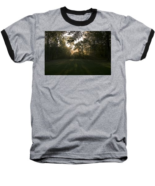 Peeking Through Baseball T-Shirt by Annette Berglund