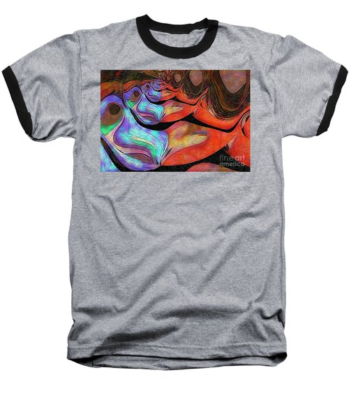 Peeling Back The Layers Baseball T-Shirt by Kathie Chicoine