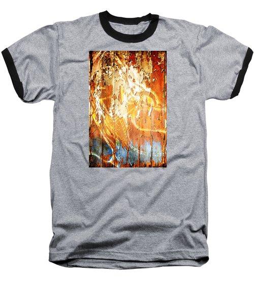 Peeling Wall Portrait Baseball T-Shirt
