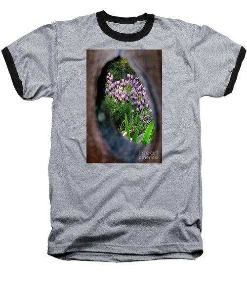 Peephole Garden Baseball T-Shirt by CML Brown