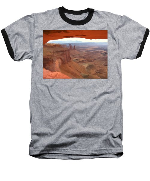 Baseball T-Shirt featuring the digital art Peering Out 2 Watercolor by Gary Baird