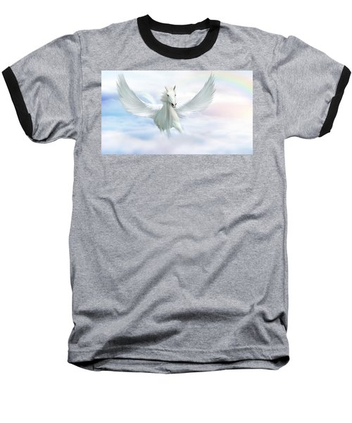 Pegasus Baseball T-Shirt by John Edwards