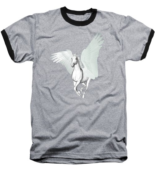 Baseball T-Shirt featuring the painting Pegasus   by Valerie Anne Kelly