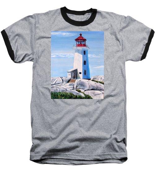 Peggy's Cove Lighthouse Baseball T-Shirt