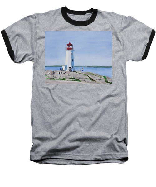 Peggy's Point Lighthouse Baseball T-Shirt