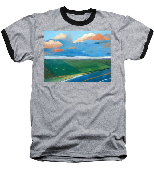 Baseball T-Shirt featuring the painting Peggy's Road by Gary Coleman