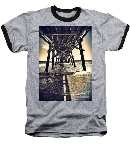Peir View  Baseball T-Shirt by Christy Ricafrente