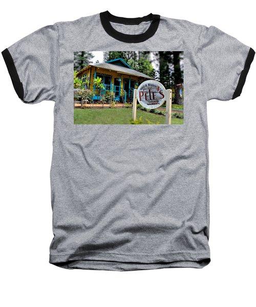 Pele's Lanai Style Baseball T-Shirt by DJ Florek