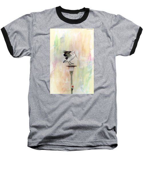 Baseball T-Shirt featuring the photograph Pelican Beauty 000004 by Kevin Chippindall
