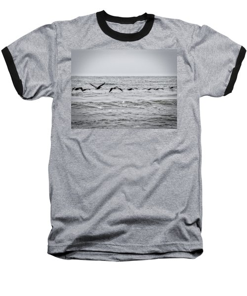 Pelican Black And White Baseball T-Shirt
