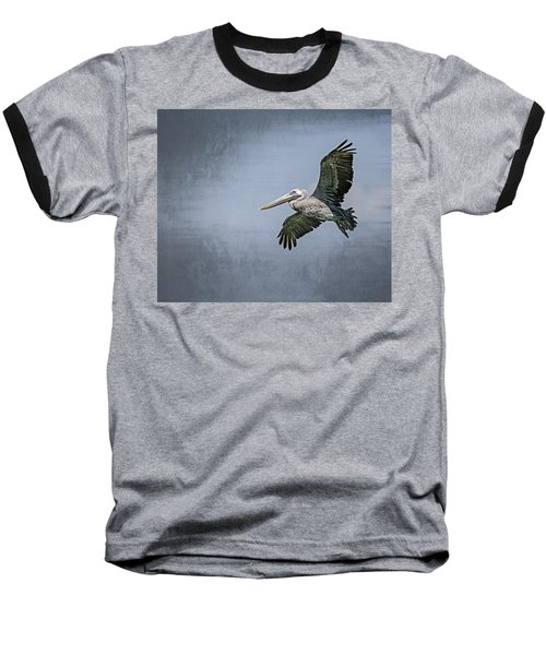 Pelican Flight Baseball T-Shirt by Carolyn Marshall