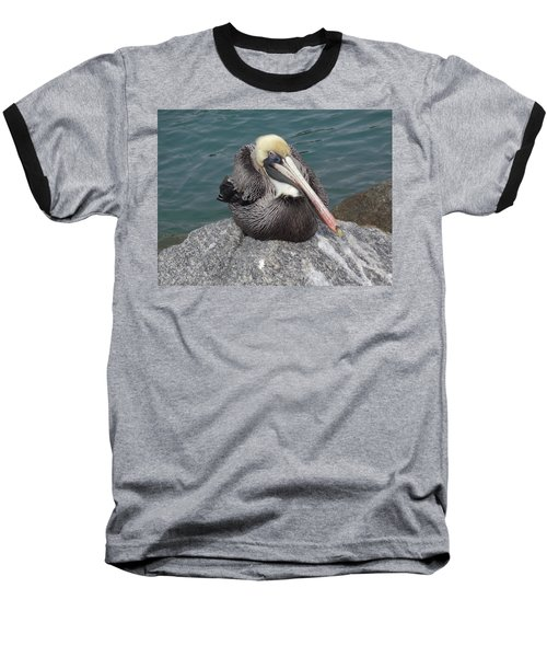 Baseball T-Shirt featuring the photograph Pelican by John Mathews