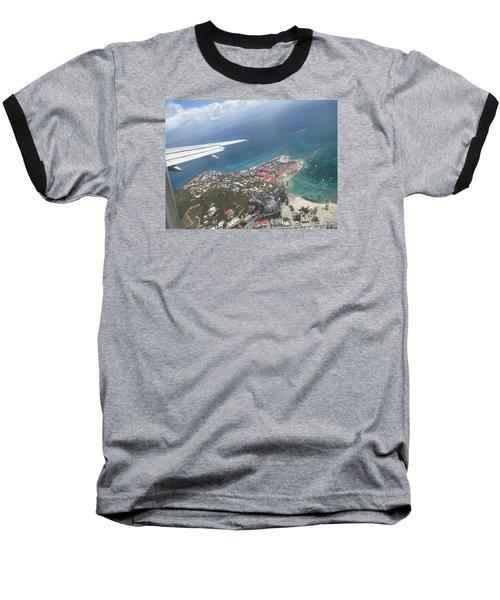 Pelican Key St Maarten Baseball T-Shirt by Christopher Kirby