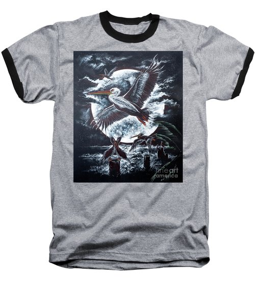 Pelican Moon Baseball T-Shirt