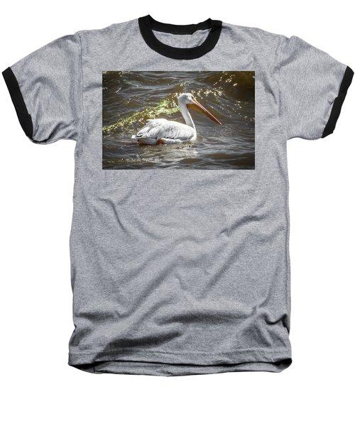 Pelican Profile Baseball T-Shirt by Ray Congrove
